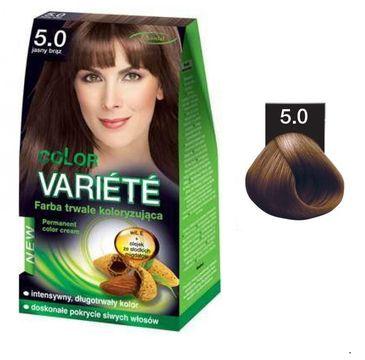 Chantal Variete Color Permanent Color Cream farba trwale koloryzująca 5.0 Jasny Brąz 50g