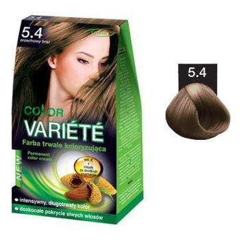 Chantal Variete Color Permanent Color Cream farba trwale koloryzująca 5.4 Orzechowy Brąz 50g