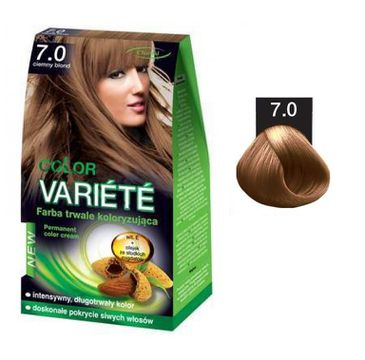 Chantal Variete Color Permanent Color Cream farba trwale koloryzująca 7.0 Ciemny Blond 50g