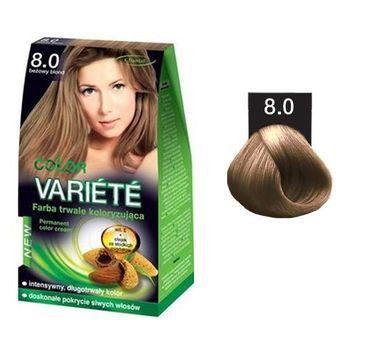 Chantal Variete Color Permanent Color Cream farba trwale koloryzująca 8.0 Beżowy Blond  50g
