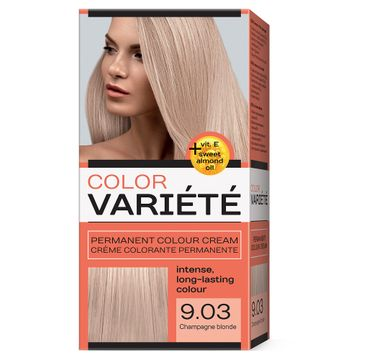Chantal Variete Color Permanent Colour Cream farba trwale koloryzująca 9.03 Szampański Blond (110 g)
