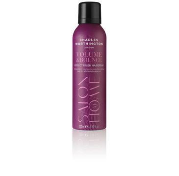 Charles Worthington Salon At Home Volume & Bounce Perfect Finish Hairspray lakier do włosów nadający objętość i blask 200ml