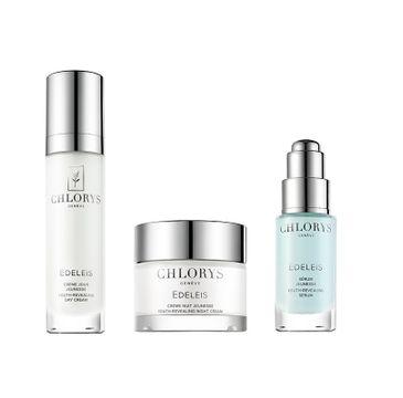 Chlorys Edeleis Beauty Ritual Hydration & Protection zestaw odmładzające serum do twarzy 10ml + odmładzający krem na dzień 12ml + odmładzający krem na noc 10ml