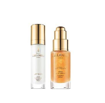 Chlorys Lifteor Beauty Ritual Global Anti-Aging zestaw rozświetlający krem do twarzy 12ml + rozświetlające serum do twarzy 10ml