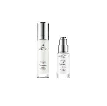 Chlorys – Rose De Diamant Beauty Ritual Whitening & Regenerating zestaw rozświetlające serum do twarzy 10ml + rozświetlająca emulsja do twarzy 12 ml (1 szt.)