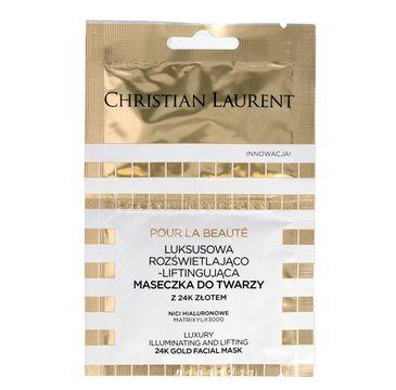 Christian Laurent luksusowa maseczka do twarzy rozświetlająco-liftingująca 2 x 5 ml
