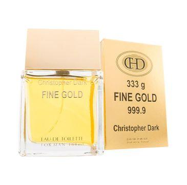Christopher Dark Men Fine Gold woda toaletowa męska 100 ml