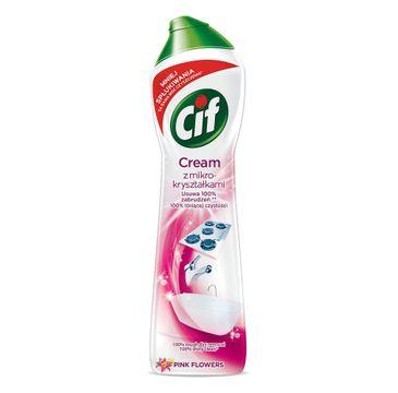 Cif Cream Pink Flowers mleczko z mikrokryształkami do czyszczenia powierzchni 540g