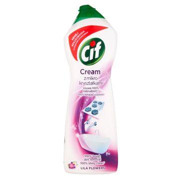 Cif Lila Flowers Cream mleczko do czyszczenia z mikrokryształkami 780 g