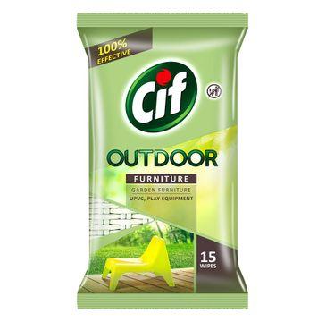 Cif Outdoor Furniture chusteczki do czyszczenia mebli ogrodowych i balkonowych 15szt