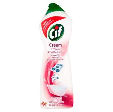 Cif Pink Flowers Cream mleczko do czyszczenia powierzchni z mikrokryształkami 780 g