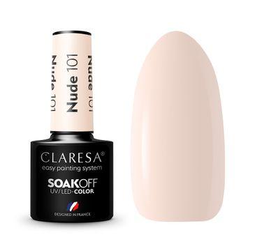 Claresa Soak Off UV/LED Nude lakier hybrydowy 101 (5 g)