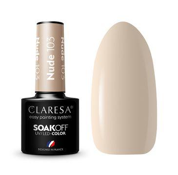 Claresa Soak Off UV/LED Nude lakier hybrydowy 103 (5 g)