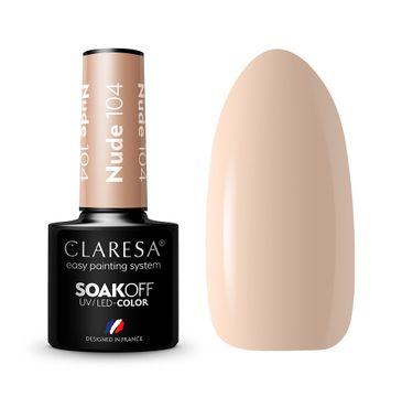 Claresa Soak Off UV/LED Nude lakier hybrydowy 104 (5 g)