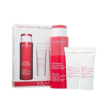 Clarins Zestaw Body Lift Cellulite Control krem do ciała 200ml + Body Shaping Cream krem wyszczuplający 30ml + Exfoliating Body Scrub For Smooth Skin peeling do ciała 30ml