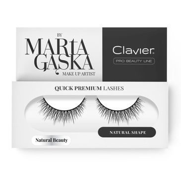 Clavier Quick Premium Lashes rzęsy na pasku Natural Beauty 827