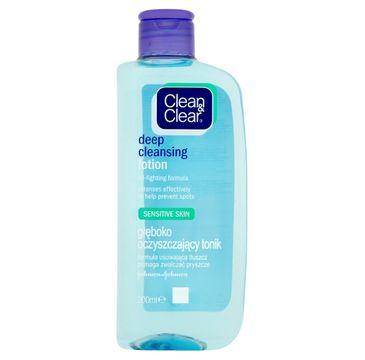 Clean&Clear Głęboko oczyszczający tonik do twarzy do skóry wrażliwej 200 ml