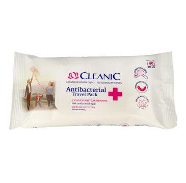 Cleanic – Antibacterial Travel Pack chusteczki odświeżające z płynem antybakteryjnym (40 szt.)