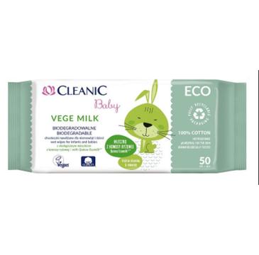 Cleanic – Chusteczki dla dzieci Vege Milk (1 op.)