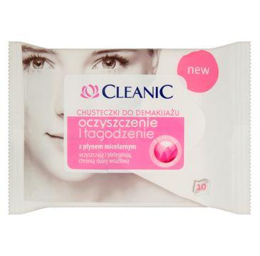 Cleanic chusteczki do demakijażu oczyszczenie i łagodzenie cery wrażliwej 10 szt. 1 op.