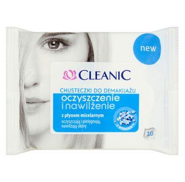 Cleanic chusteczki do demakijażu oczyszczenie i nawilżenie 10 szt. 1 op.