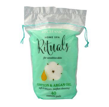 Cleanic Home Spa Ritualy płatki kosmetyczne owalne z olejkiem arganowym 1 op. - 40 szt.