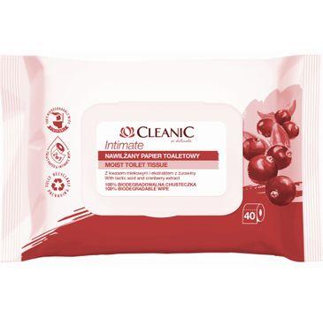 Cleanic – Intimate Nawilżany papier toaletowy (40 szt.)