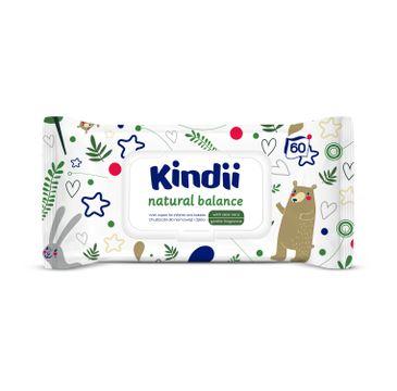 Cleanic Kindii 鈥�  chusteczki nawil偶aj膮ce Natural Balance (60 szt.)