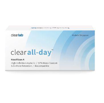 Clearlab Clear All-Day miesięczne soczewki kontaktowe -2.25 (3 szt.)