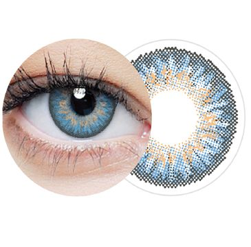 Clearlab Clearcolor 1-day Blue jednodniowe kolorowe soczewki kontaktowe FL333 -2.00 (10 szt.)