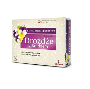 Colfarm Drożdże z Bratkiem gładka i piękna skóra suplement diety 60 tabletek