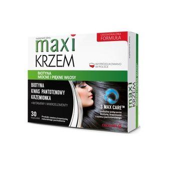 Colfarm Maxi Krzem mocne włosy i paznokcie suplement diety 30 kapsułek