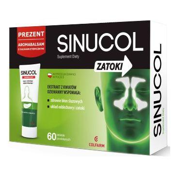 Colfarm Sinucol Zatoki suplement diety 60 tabletek + Aromabalsam 20g