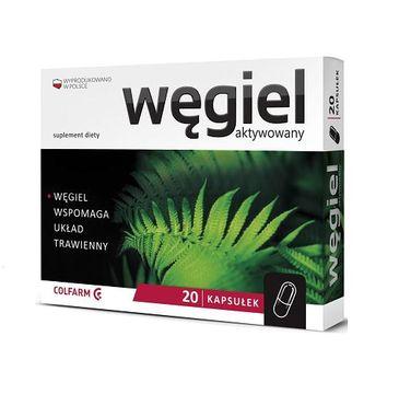 Colfarm Węgiel Aktywowany wspomaga układ trawienny suplement diety 20 kapsułek