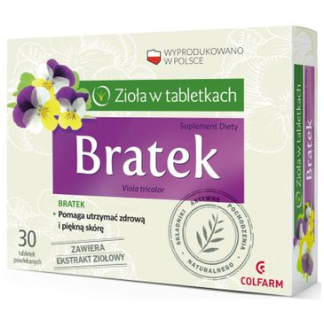 Colfarm Zioła w Tabletkach Bratek suplement diety 30 tabletek