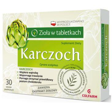 Colfarm Zioła w Tabletkach Karczoch suplement diety 30 tabletek