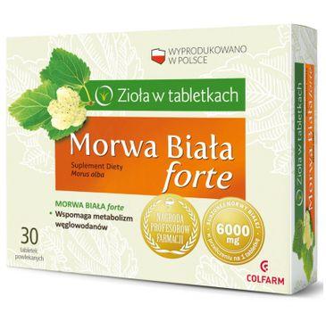 Colfarm Zioła w Tabletkach Morwa Biała Forte suplement diety 30 tabletek