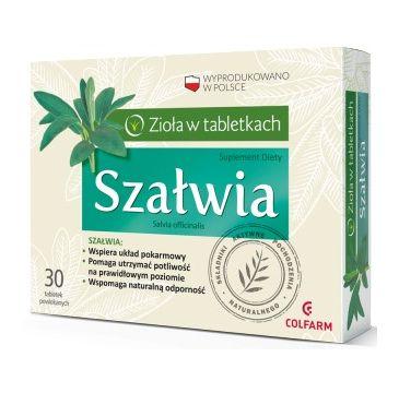 Colfarm Zioła w Tabletkach Szałwia suplement diety 30 tabletek