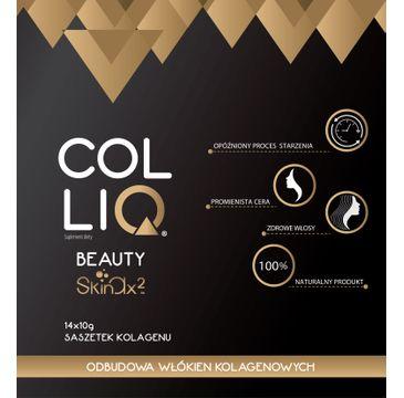 ColliQ Beauty z formułą Skinax2 naturalny kolagen zapobiegający starzeniu się skóry 14 saszetek