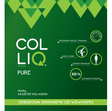 ColliQ Pure Kolagenowa odbudowa organizmu 14 saszetek
