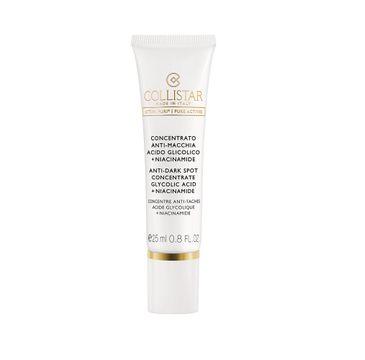 Collistar – Attivi Puri Anti-Dark Spot Concentrate koncentrat przeciw przebarwieniom z kwasem glikolowym i niacynamidem (25 ml)