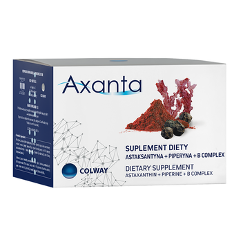 Colway Axanta astaksantyna + piperyna + B complex suplement diety 60 kapsułek