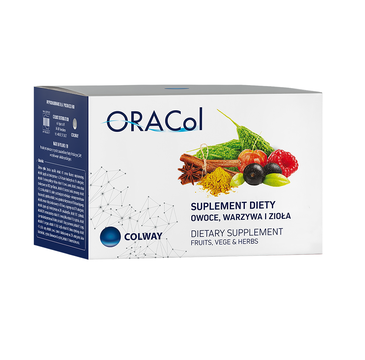 Colway OraCol ekstrakt z owoców warzyw i ziół suplement diety 60 kapsułek