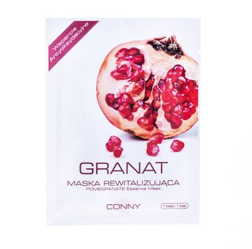 Conny Pomegranate Essence Mask rewitalizująca maseczka w płachcie Granat 23g