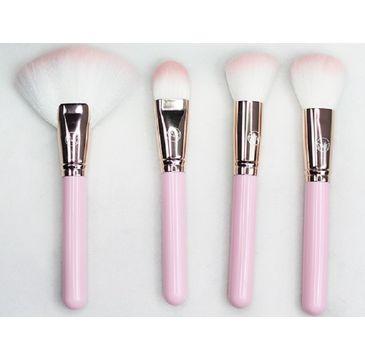 Contour Cosmetics Make Your Mark zestaw pędzli do twarzy Różowy 4szt