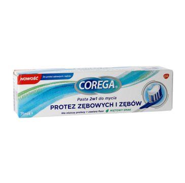Corega pasta 2w1 do mycia protez zębowych i zębów 75 ml