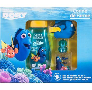 Corine de Farme Zestaw prezentowy Dory (woda toaletowa 50 ml+żel pod prysznic 250 ml+zabawka)