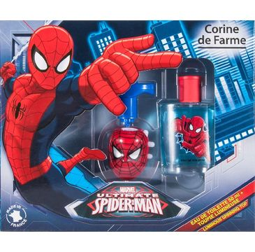 Corine de Farme Zestaw prezentowy Spiderman (woda toaletowa 50 ml+żel do stylizacji świecący bączek)