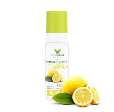 Cosnature – Foaming Cleanser 3in1 naturalna pianka oczyszczająca z cytryną i melisą (150 ml)