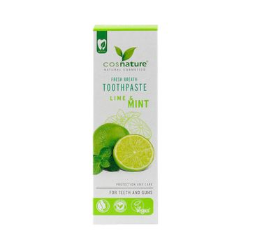 Cosnature – Fresh Breath Toothpaste naturalna pasta do zębów o smaku limonki i mięty (75 ml)